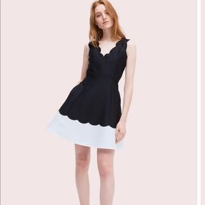 New Kate Spade Scallop Fit & Flare Dress Sz-0